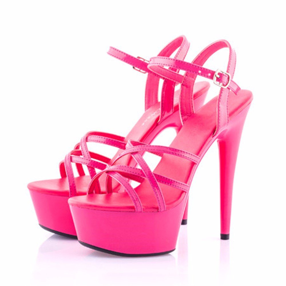 FLYRCX Sommer sexy High Heel Fashion Rutschfeste Schuhe Frau high Heel Party Schuhe