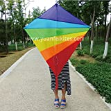 guz rainbow diamond kite for kid and adult, Best for Beach and Summer Fun