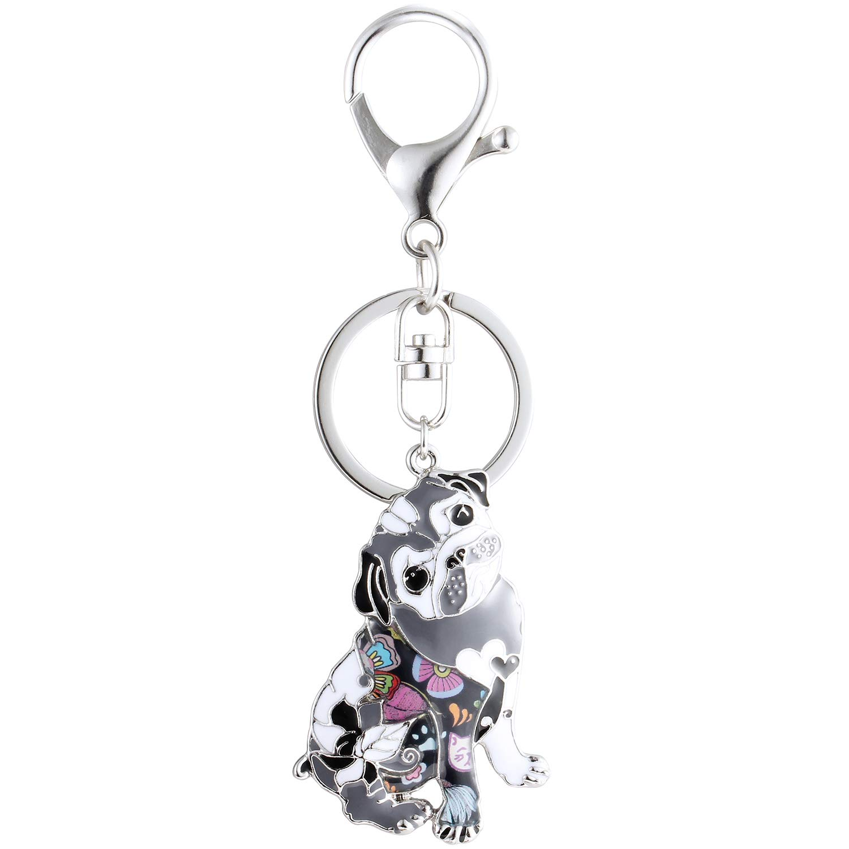 Amazon.com: Luckeyui Llavero único para perro carlino para ...