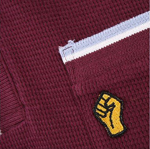 Wigan Casino Northern Soul Skin Mikro Waffelstrick Tasche Polohemd Maroon (groß)