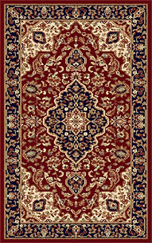 Universal Rugs Traditional Oriental 2 Ft. X 3 Ft. Area Rug , Red
