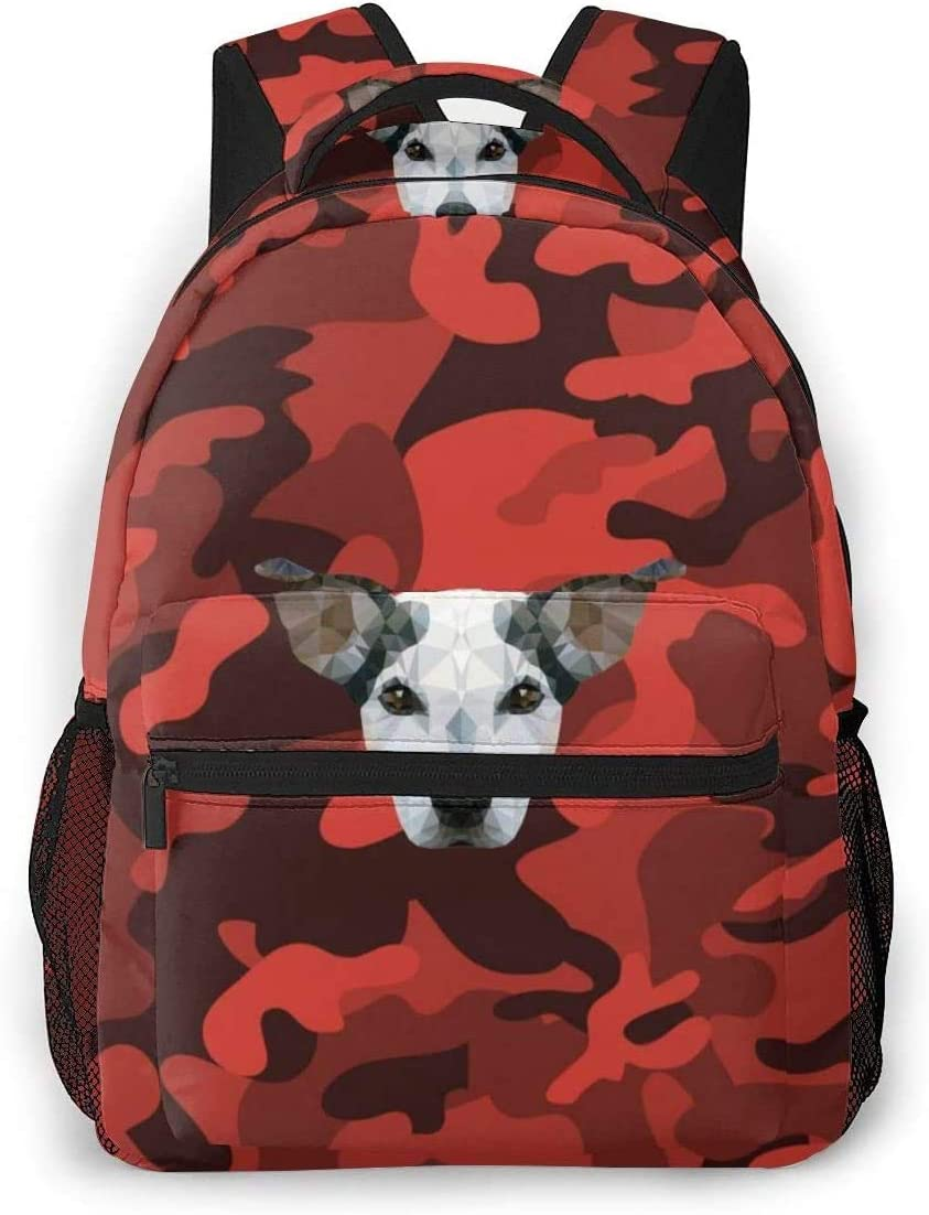 Camouflage Texture Laptop Backpack High School Bookbag Casual Travel Daypack