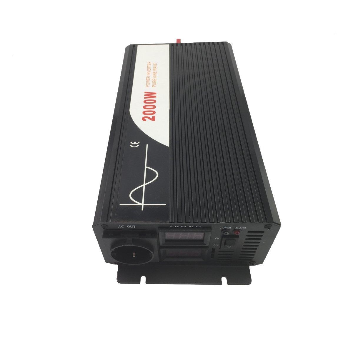 Onda sinusoidal Pura inversor de Corriente DC 12 V 24 V 48 V a AC 220~230 V 50 Hz Solar conversor para Uso en casa Coche DC24V to AC220V XIJIA 2500 W m/áximo 5000 W