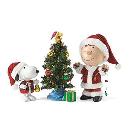department 56 peanuts merry christmas charlie brown figurine 79 inch - Department 56 Peanuts Christmas