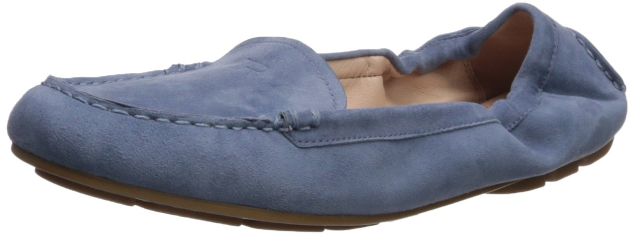 Taryn Rose Women's Kristine Silky Suede Driving Style Loafer, Denim, 11 M M US