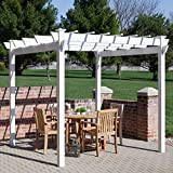 7 x 7 ft. Vinyl Pergola, Versatile Outdoor Furniture, Space for Entertaining and Relax, Very Sturdy, Reliable Arbour, A shaded Walkway, Garden Feature, Great Addition to your Yard, Easy to Assemble
