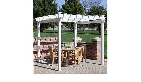 7 x 7 pies. Vinilo Pergola, versátil mesa de exterior, espacio ...