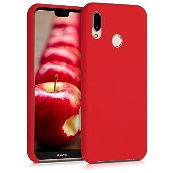 kwmobile Funda para Huawei P20 Lite - Carcasa de [TPU] para teléfono móvil - Cover [Trasero] en [Rojo Mate]