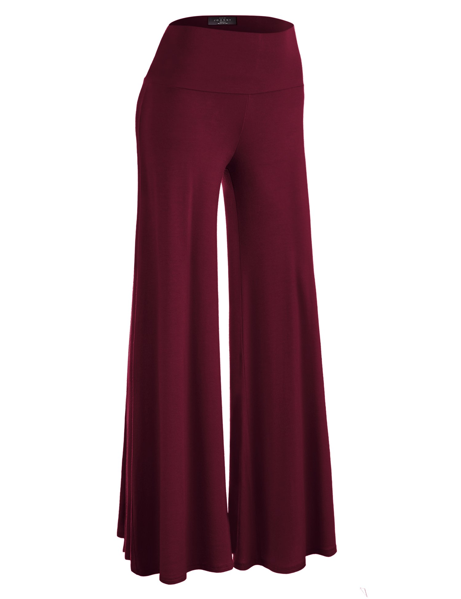 Made By Johnny WB750 Womens Chic Palazzo Lounge Pants M WINE