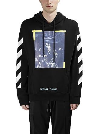 tolle Passform neue Version spottbillig OFF-WHITE Herren Sweatshirt schwarz schwarz 48: Amazon.de ...