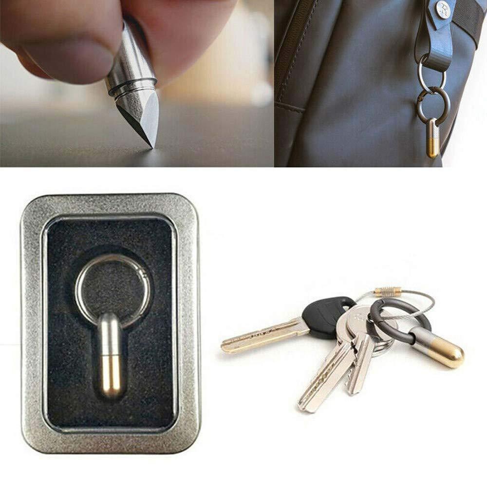 Llavero de bolsillo para micro herramientas de corte cortador port/átil multifunci/ón 4 piezas tap/ón de corte de caucho de silicona para seguridad /ángulo de bisel de 35 grados
