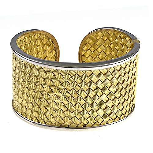 18k Yellow Gold Basket Weave H