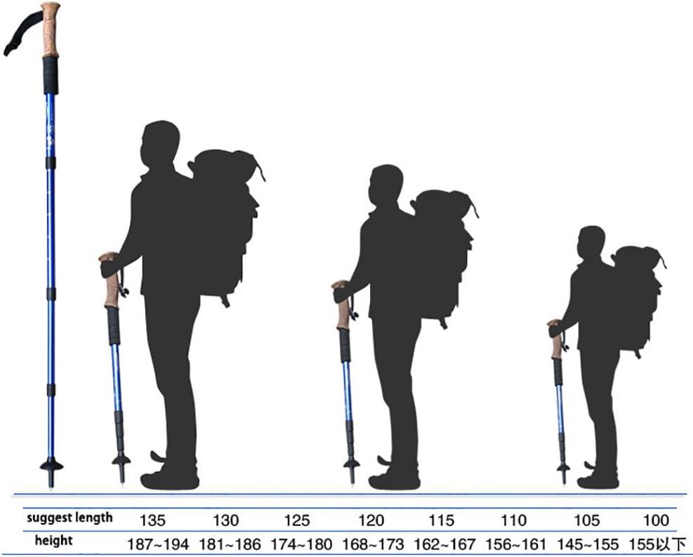 Regolabile Z/&D Bastone Da Trekking 100-115Cm//110-125Cm//120-135Cm 2 Pz A Set Stoccaggio 33Cm Tri-Sezione In Fibra Di Carbonio Ultrasottile Ultrasottile Ultracorta Alpenstock