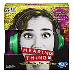 """Who knows what's going to come out of your teammate's mouth? The Hearing things game, Hasbro's twist on the online viral """"Whisper Challenge"""" sensation has you guessing what you think your teammate is saying by reading their lips. One player p..."""