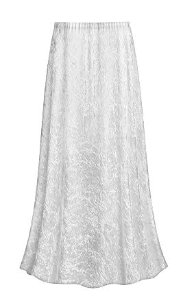 e2e8142a652 Sanctuarie Designs White Crush Velvet Plus Size Supersize Skirt at ...