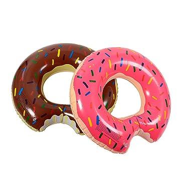 De postre dulce Flotadores gigantes adulto extra grande de donut gigante piscina inflable Boya vida natación mayorista anillo circular 100 asa de Chocolate: ...