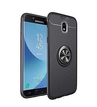SpiritSun Funda para Samsung Galaxy J7 2017, Carcasa con Anillo de Soporte 360° Giratorio Protector Case Soporte Magnético Silicona Gel TPU Bumper ...