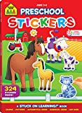 Preschool Stickers Workbook, Ages 3-6, 300+ stickers, numbers, letters, playful learning, gets kids ready for school success (Stuck on Learning)