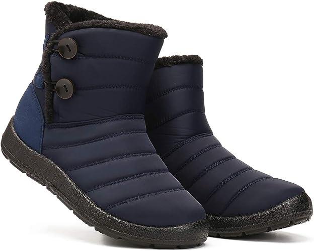 Camfosy Women Snow Boots Ladies Winter