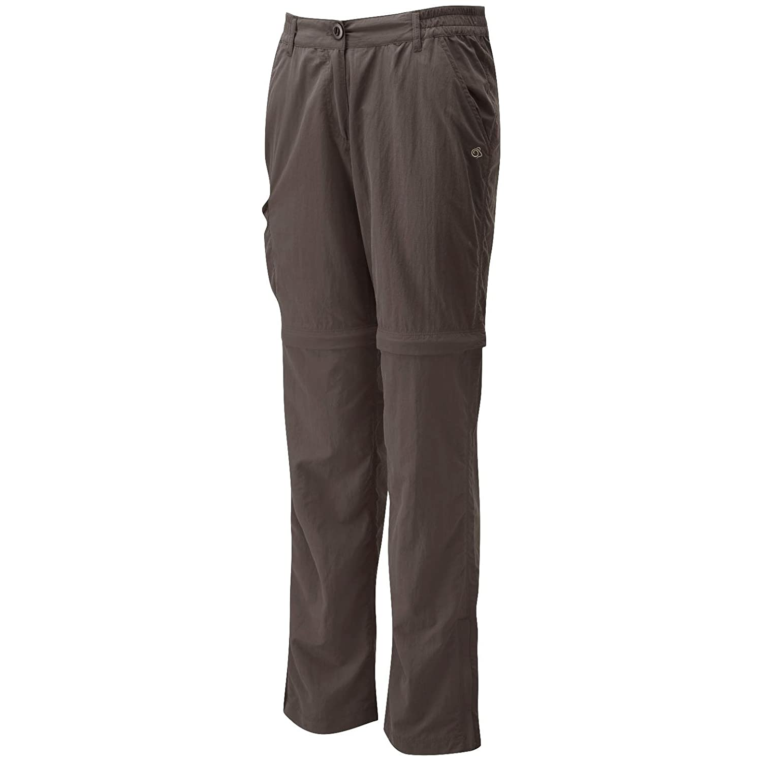 67f867a0c4c4 Womens Nosilife Zip Off Trousers by Craghoppers - Can Be Wo - Cafe Au Lait  - 18S: Amazon.co.uk: Clothing