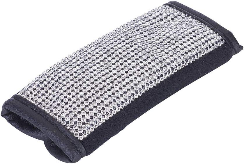 Blueshyhall Universal Auto Car Handbrake Cover PU Leather with Bling Bling Rhinestones