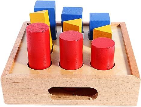 F Fityle Juegos Math Montessori Material Geometría Montando Escalera Pilar Juguetes de Matemáticas Aprendizaje Tempranos para Niños 3 - 6 Años: Amazon.es: Juguetes y juegos