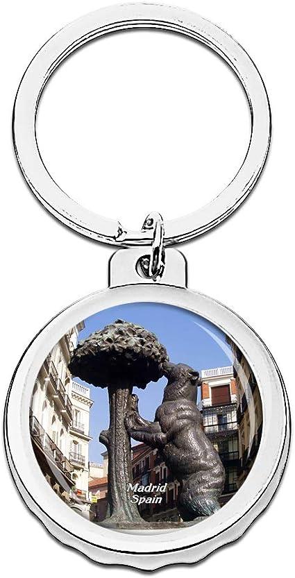 Hqiyaols Keychain España Puerta del Sol Madrid Gorra Abrebotellas ...