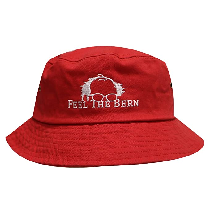 d715ba4c6d0 Image Unavailable. Image not available for. Color  Bd2020 Bernie Feel the  Bern Bucket Hat Red