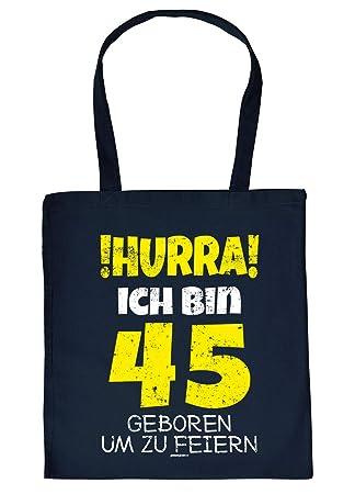 Witzige Geschenk Tasche Zum 45geburtstag Verpackung Hurra