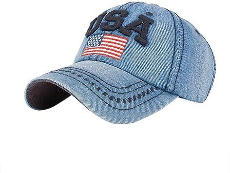 Gorras de Beisbol Hombre Mujer Gorra de béisbol USA Rhinestone ...