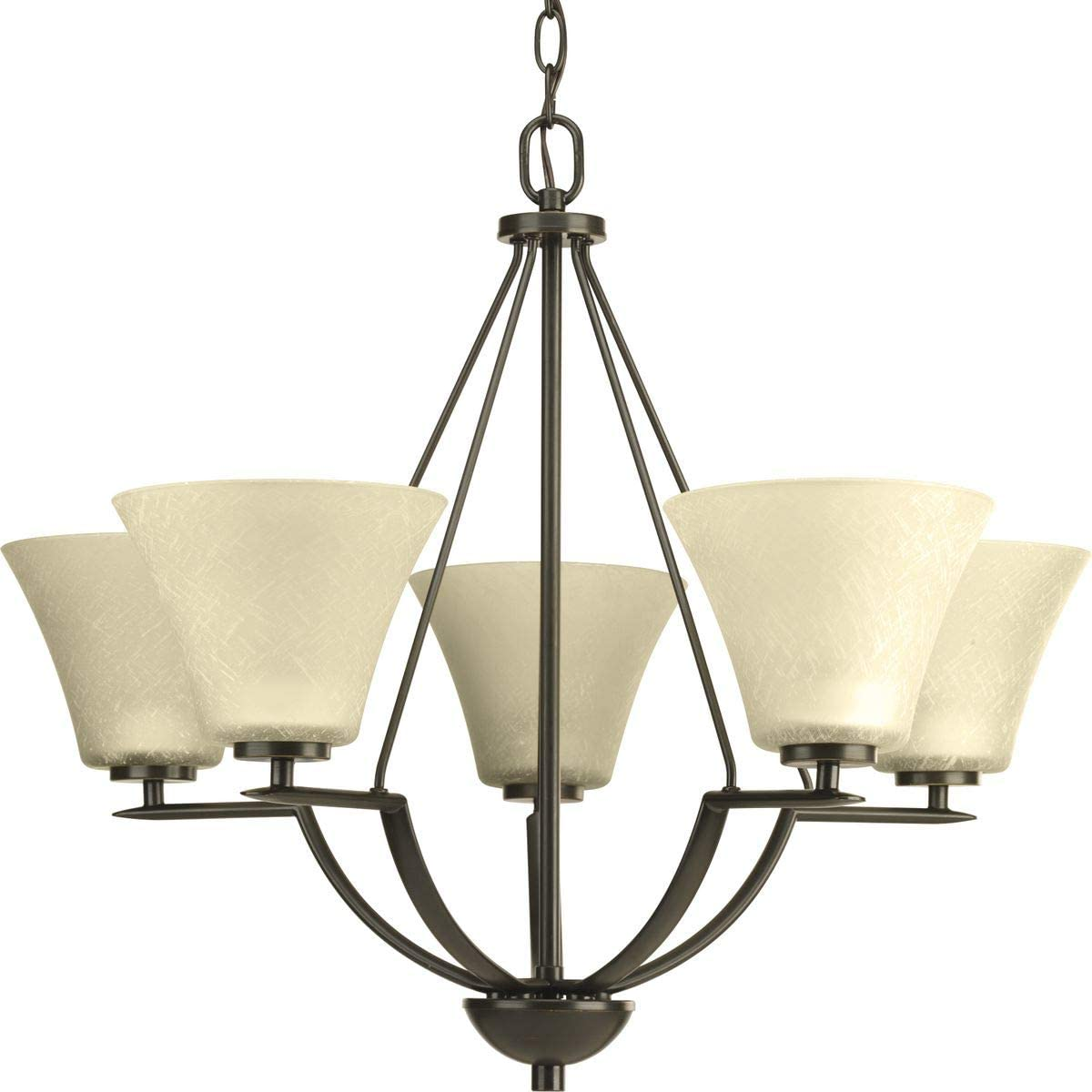 Progress Lighting P4623-20 Transitional Five Light Chandelier from Bravo Collection Dark Finish, Antique Bronze