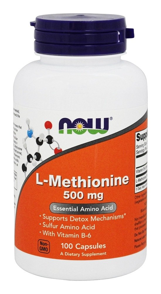 NOW Foods L-Methionine 500 mg 100 Caps