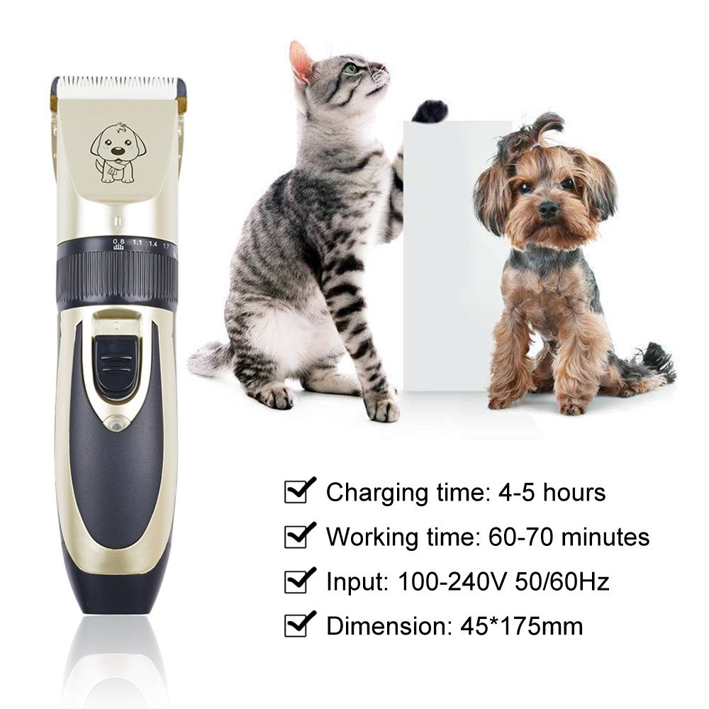 Dog Grooming Clippers Professional Pet Grooming Kit Low Noise Pet