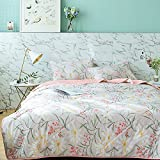 MKXI Daughter Girls Thin Lightweight Comforter for Summer Season, Country Rustic Floral Pattern Blanket Bed Quilt Full Size