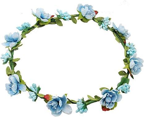 10 Pezzi Multicolor Fiore Corona Floreale Corona Fascia Per Capelli Ghirlanda Floreale per