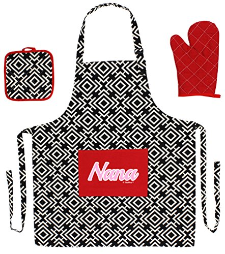 Mothers Script Cooking Aprons 3 piece