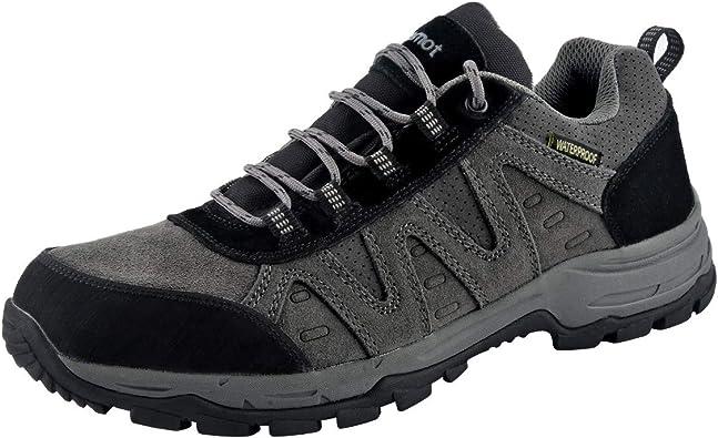 riemot Zapatillas Trekking para Mujer y Hombre, Zapatos de Senderismo Calzado de Montaña Escalada Aire Libre Impermeable Ligero Antideslizantes ...