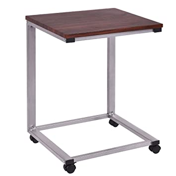 Tangkula Coffee Tray Sofa Side End Table Laptop Stand Over Bed TV Snack  Rolling