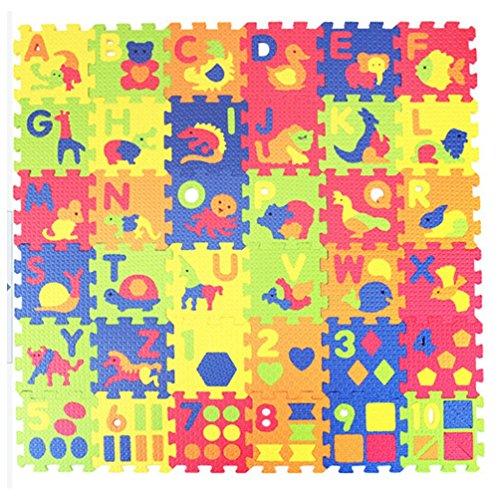 Kingball Kids Baby 36 Piece Alphabet Numbers Animals Foam