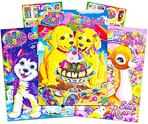 - Amazon.com: Lisa Frank Coloring Book And Stickers Super Set (3 Books With  Over 30 Lisa Frank Stickers): Toys & Games