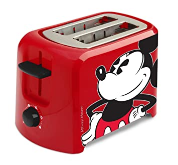 Disney Dcm 21 Mickey Mouse 2 Slice Toaster Red Black 1