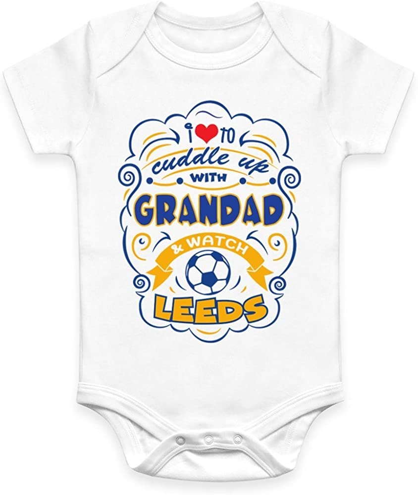 Me and My Daddy Love Leeds United for Football Fans Personalised Baby Bib