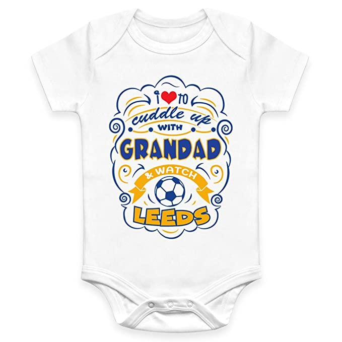 77d8fb90a Coco Rascal Baby Boy Girl Cuddle Grandad Leeds United LUFC Footie Football  White Bodysuit Grow Vest (0-18 Months): Amazon.co.uk: Clothing