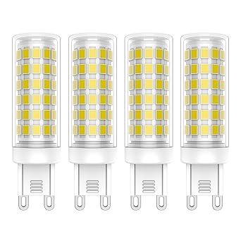 4X G9 Bombillas LED 9W Lámpara LED 76 SMD 2835LED Blanco Frío 6000K Bombilla Lámpara Super
