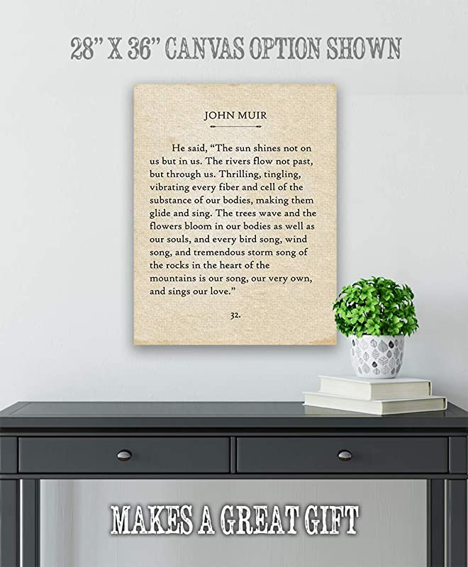 John Muir Choose Unframed Poster or Canvas Poster The Sun Shines Not On Us