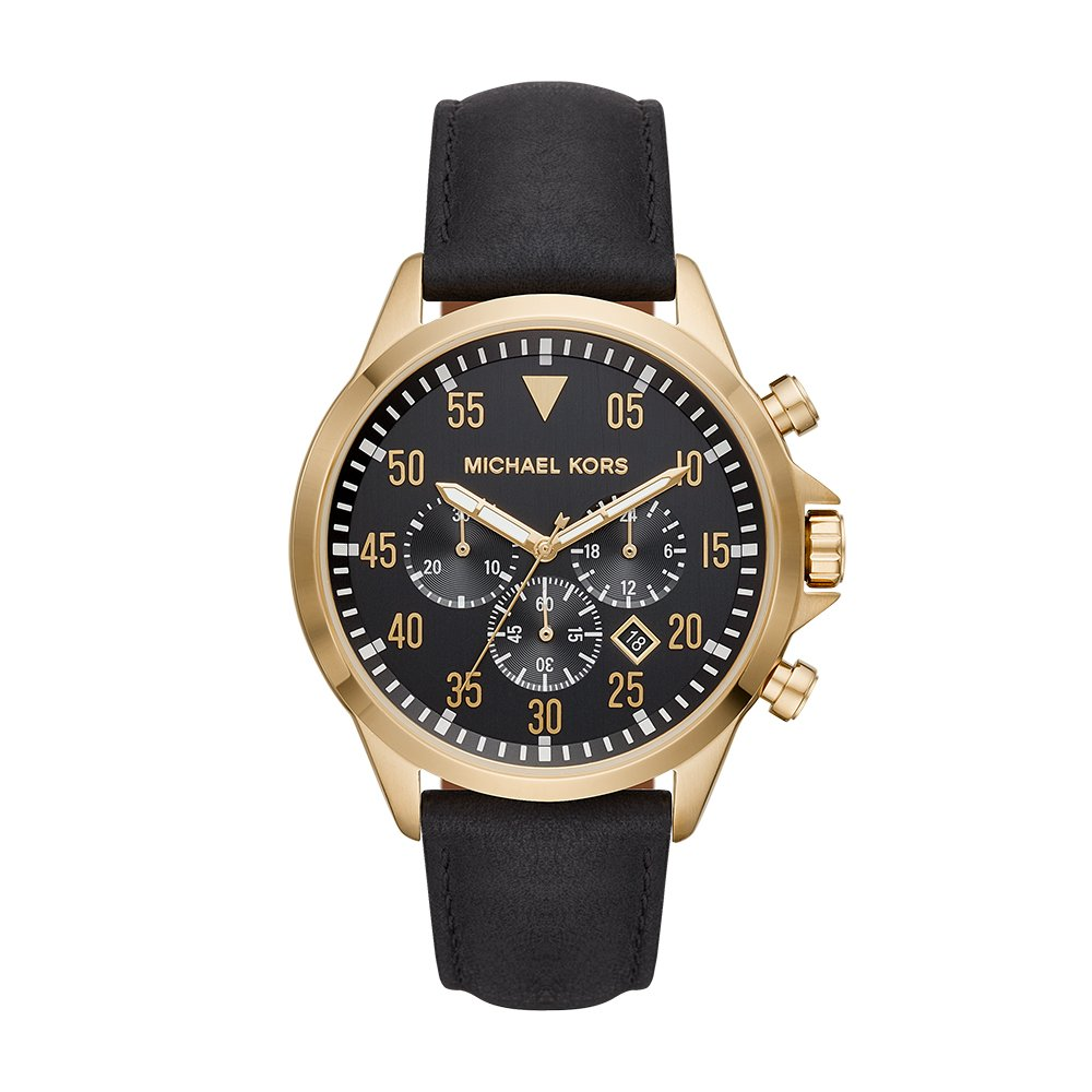 CDM product Michael Kors Men's 'Gage' Quartz Stainless Steel and Leather Casual Watch, Color:Black (Model: MK8618) big image