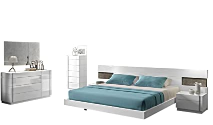 Amazon.com: J&M Furniture Amora Contemporary King Bedroom ...