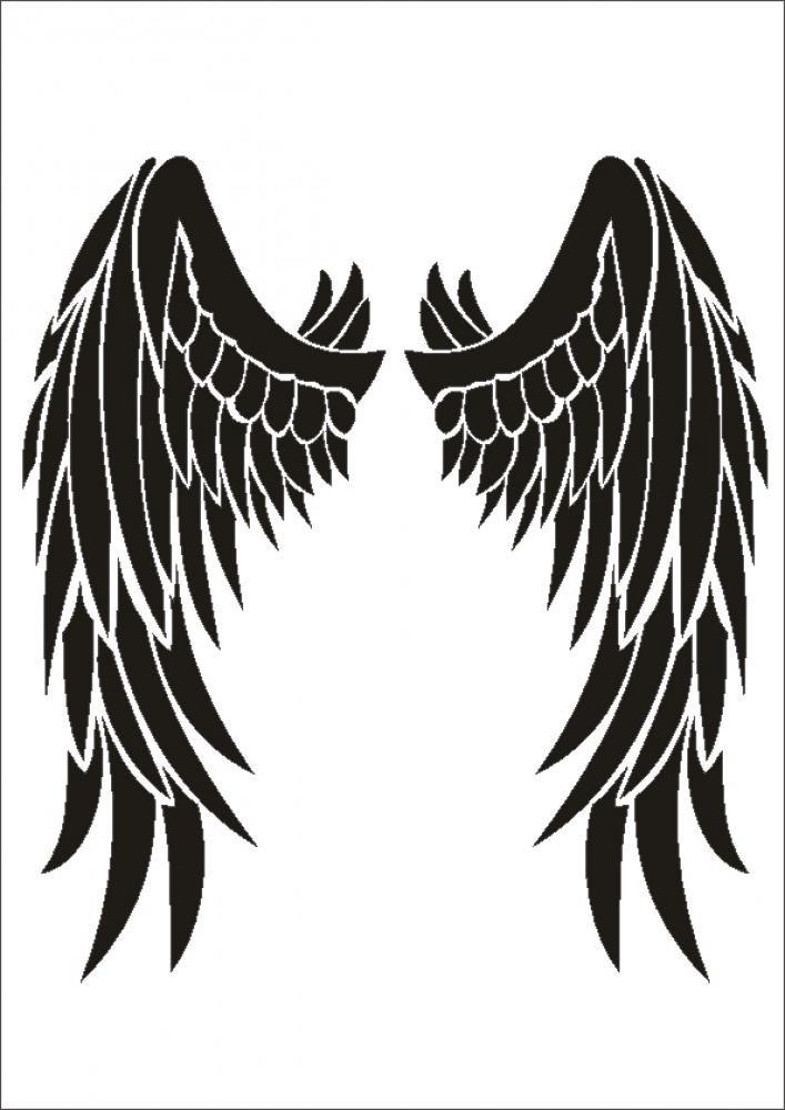 UMR-Design W-207 Angel Wings Wand Textilschablone Gr/össe A3