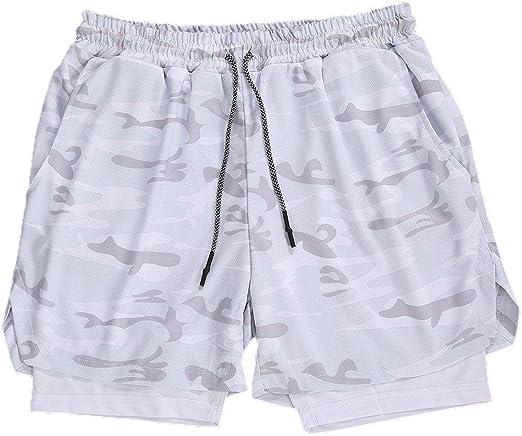 Lachi Short de sport 2 en 1 pour homme avec poches pour t/él/éphone