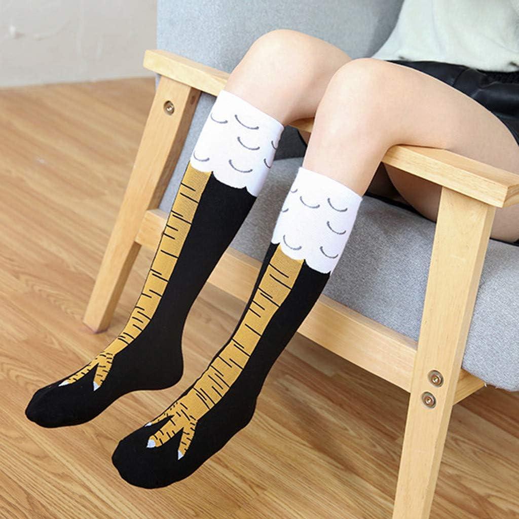 Knee-High Novelty Socks Gift Socks Cartoon Chicken Feet Socks for Women Girls Atezch Funny Chicken Leg Socks